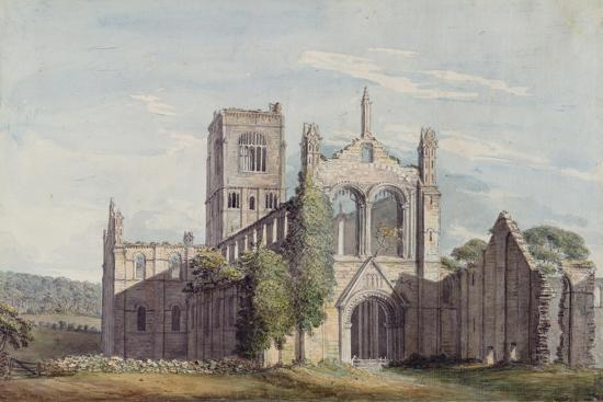 North West View of Kirkstall Abbey, 1777-Moses Griffiths-Giclee Print