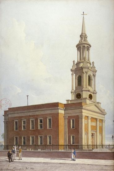 North-West View of St Paul's Church, Shadwell, London, 1822-Robert Blemmell Schnebbelie-Giclee Print