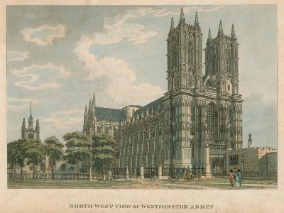 North West View of Westminster Abbey, London-Thomas Malton-Giclee Print