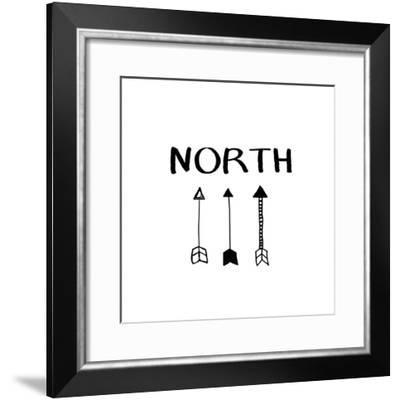 North with Arrows-Linda Woods-Framed Art Print