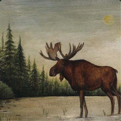 North Woods Moose II-David Cater Brown-Art Print