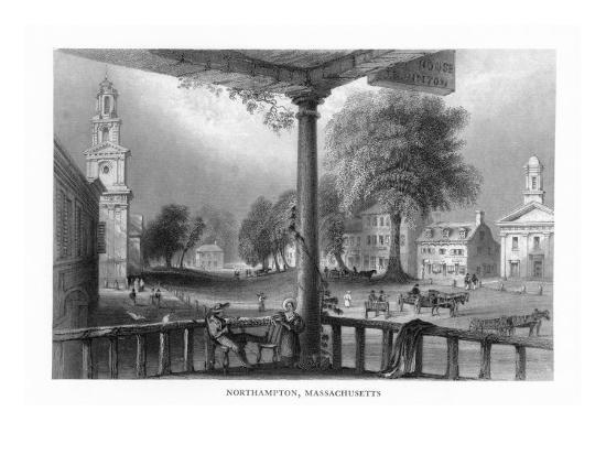 Northampton, Massachusetts, Scenic View of the Town-Lantern Press-Art Print