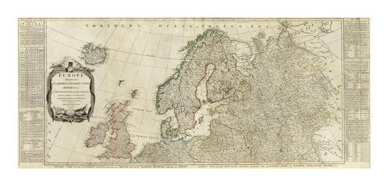 Northern Europe Divided Into Its Empires Kingdoms States Republics C 1787 Art Print Thomas Kitchin Art Com