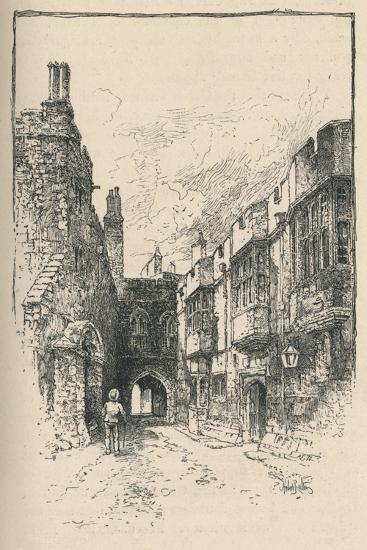 'Northern Gate and Library, from King John's Tower', 1895-Unknown-Giclee Print