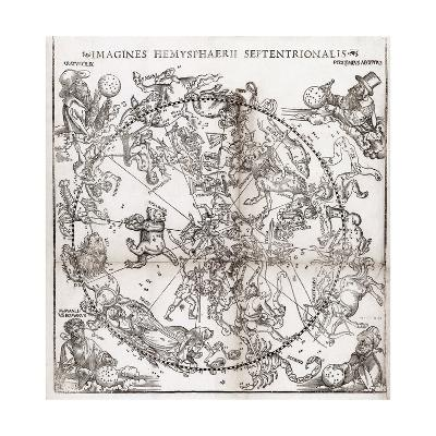 Northern Hemisphere Star Chart, 1537-Middle Temple Library-Giclee Print