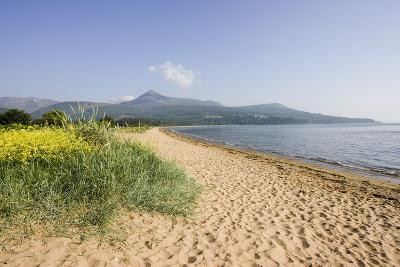 Northern Highlands on Arran Viewed from Beach--Photographic Print