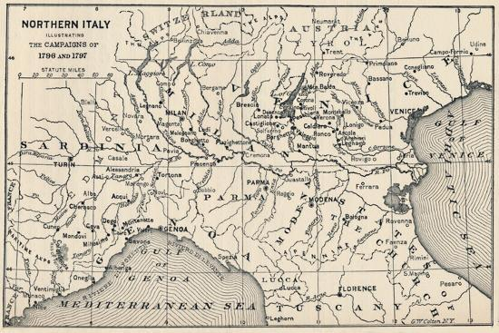 'Northern Italy - Illustrating the Campaigns of 1796 and 1797', (1896)-Unknown-Giclee Print
