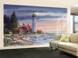 Northern Lighthouse Huge Mural Art Print Poster