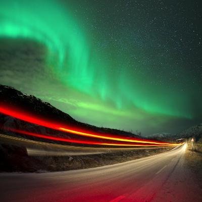 Northern Lights and Trails-Solarseven-Photographic Print