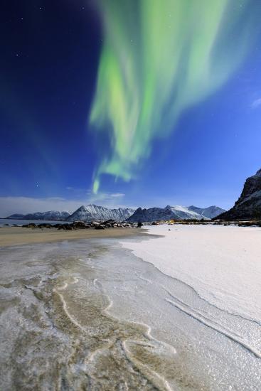 Northern Lights (Aurora Borealis) on Gymsoyan Sky-Roberto Moiola-Photographic Print