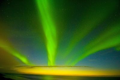 Northern Lights, Beaufort Sea, ANWR, Alaska, USA-Steve Kazlowski-Photographic Print