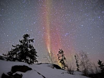 Northern Lights During Snow, Northwest Territories, March 2008, Canada-Eric Baccega-Photographic Print