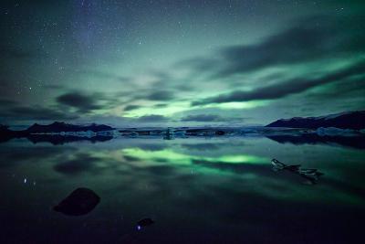 Northern Lights over Jokulsarlon-Matteo Colombo-Photographic Print