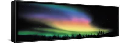 Northern Lights--Framed Canvas Print