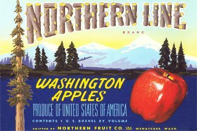 Northern Line Apple Label--Art Print