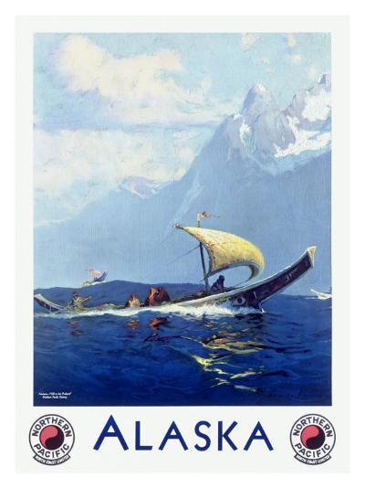 Northern Pacific Railroad, Alaska--Giclee Print