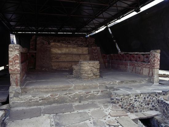 Northern Red Shrine, Templo Mayor, Mexico City, Mexico, Aztec Civilization, Ca 1500--Giclee Print