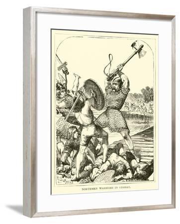 Northmen Warriors in Combat--Framed Giclee Print
