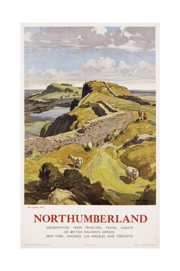 Northumberland Poster-Leonard Russell Squirrell-Giclee Print