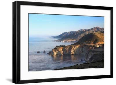 Northward view of Coastline from Big Sur, California at sunrise-Sheila Haddad-Framed Premium Photographic Print