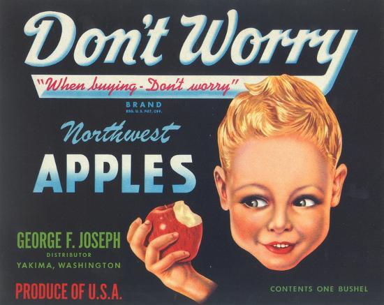Northwest Apples Advertisement-Unknown-Art Print