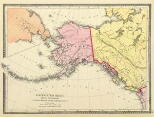 Northwestern America Showing the Territory ceded by Russia to the United States, c.1872