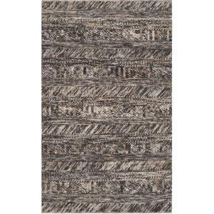 Norway Area Rug - Charcoal/Beige 5' x 8'