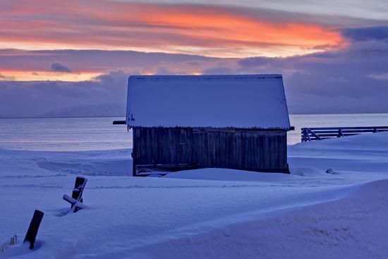 Norway, Finnmark, Eastern Finnmark, Wooden Hut-Bernd Rommelt-Photographic Print