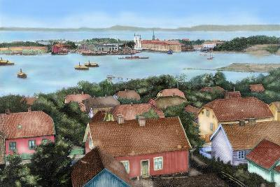 Norway. Horten. 19th Century. View of the City with the Port and Arsenal of the State with the…--Giclee Print