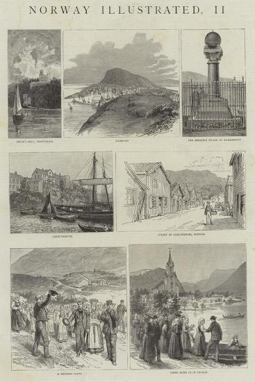 Norway Illustrated--Giclee Print