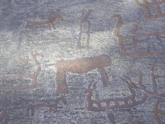 Norway, Kalnes, Rock Carvings from Bronze Age--Giclee Print