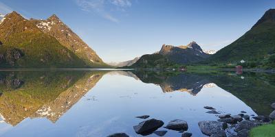 Norway, Nordland, Lofoten, Austvagoya, Austnesfjorden-Rainer Mirau-Photographic Print