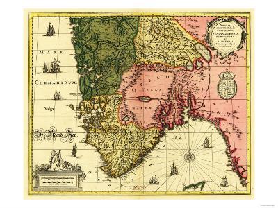 Norway - Panoramic Map-Lantern Press-Art Print
