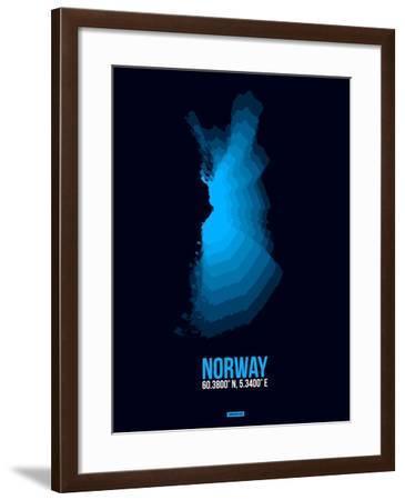 Norway Radiant Map 2-NaxArt-Framed Art Print