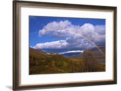 Norway, Rainbow over the Lake ovre-Sjodal-K. Schlierbach-Framed Photographic Print