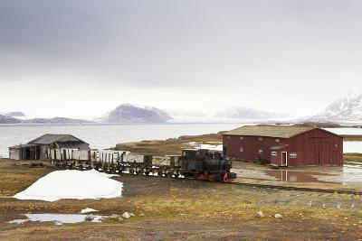 Norway, Spitsbergen, Ny Alesund, Steam Train, Old, Timber Houses-Frank Lukasseck-Photographic Print
