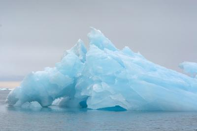 Norway. Svalbard. Brasvelbreen. Turquoise Ice Bergs in the Calm Water-Inger Hogstrom-Photographic Print