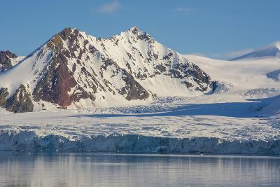Norway. Svalbard. Hornsund. Mountains Surrounding the Fjord-Inger Hogstrom-Photographic Print