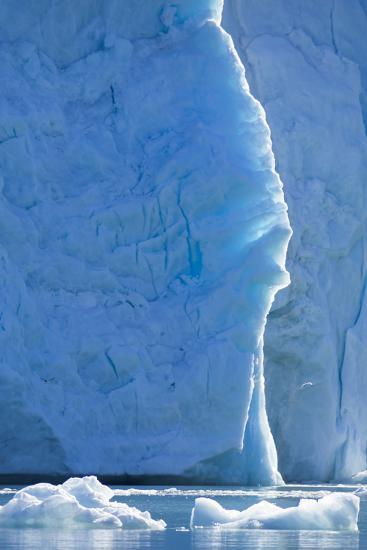 Norway, Svalbard, Ice at the Base of the Monacobreen Glacier-Ellen Goff-Photographic Print