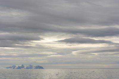 Norway. Svalbard. Krossfjord. Cloudy Skies-Inger Hogstrom-Photographic Print
