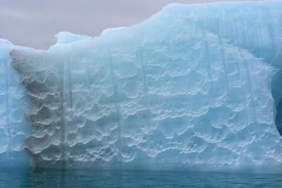 Norway. Svalbard. Nordaustlandet. Brasvelbreen. Textures of Icebergs-Inger Hogstrom-Photographic Print