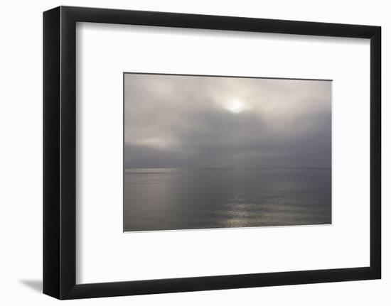 Norway. Svalbard. Nordaustlandet Island. Calm Water and Cloudy Skies-Inger Hogstrom-Framed Photographic Print