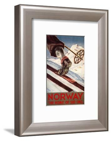 Norway - The Home of Skiing-Lantern Press-Framed Art Print