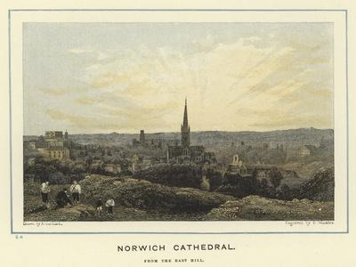 Norwich Cathedral, from the East Hill--Giclee Print