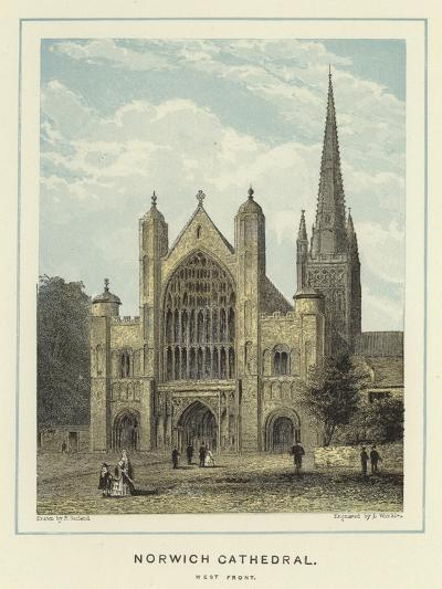 Norwich Cathedral, West Front--Giclee Print
