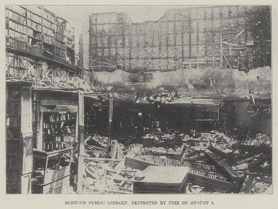 Norwich Public Library, Destroyed by Fire on 1 August--Giclee Print