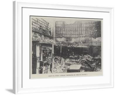 Norwich Public Library, Destroyed by Fire on 1 August--Framed Giclee Print