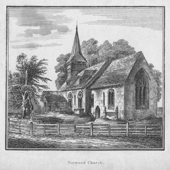 'Norwood Church', c1792-Unknown-Giclee Print
