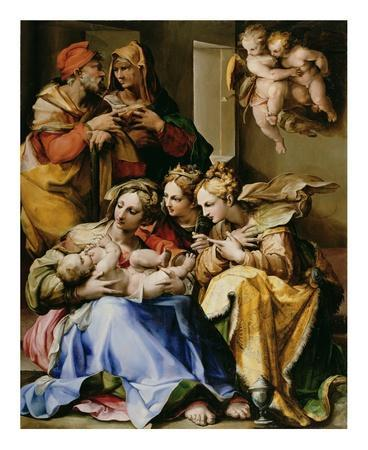Holy Family with Saints Anne, Catherine of Alexandria, and Mary Magdalene