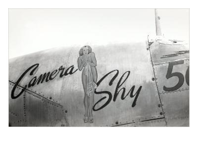 Nose Art, Camera Shy, Pin-Up--Art Print